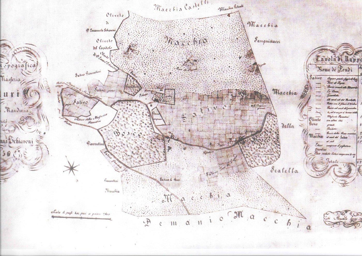 Mappa Antica di Masseria Cuturi
